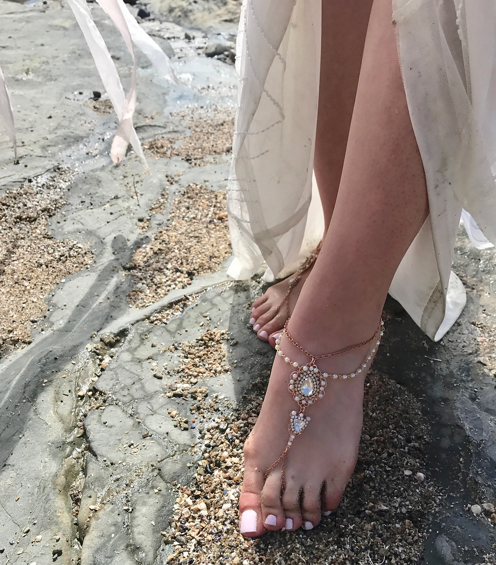 rose gold foot jewels