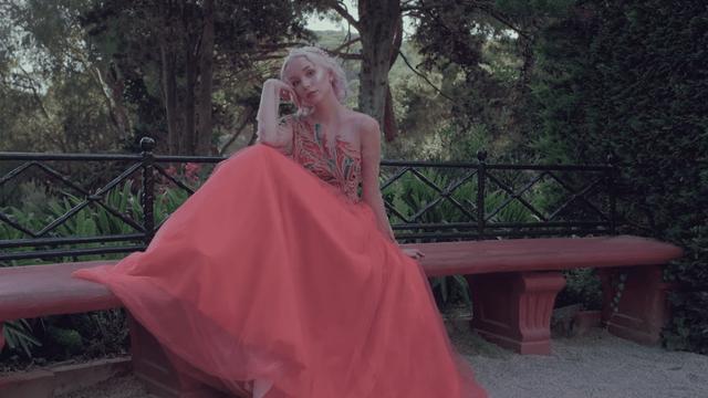 Coral dresses by Nina Dar