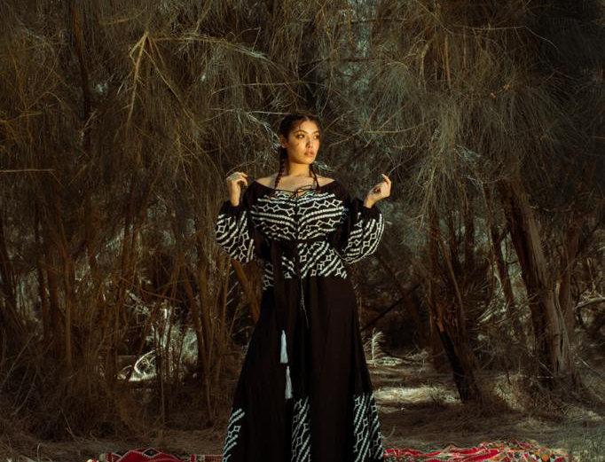Black Embroidery Maxi Dress, bobleen cotton