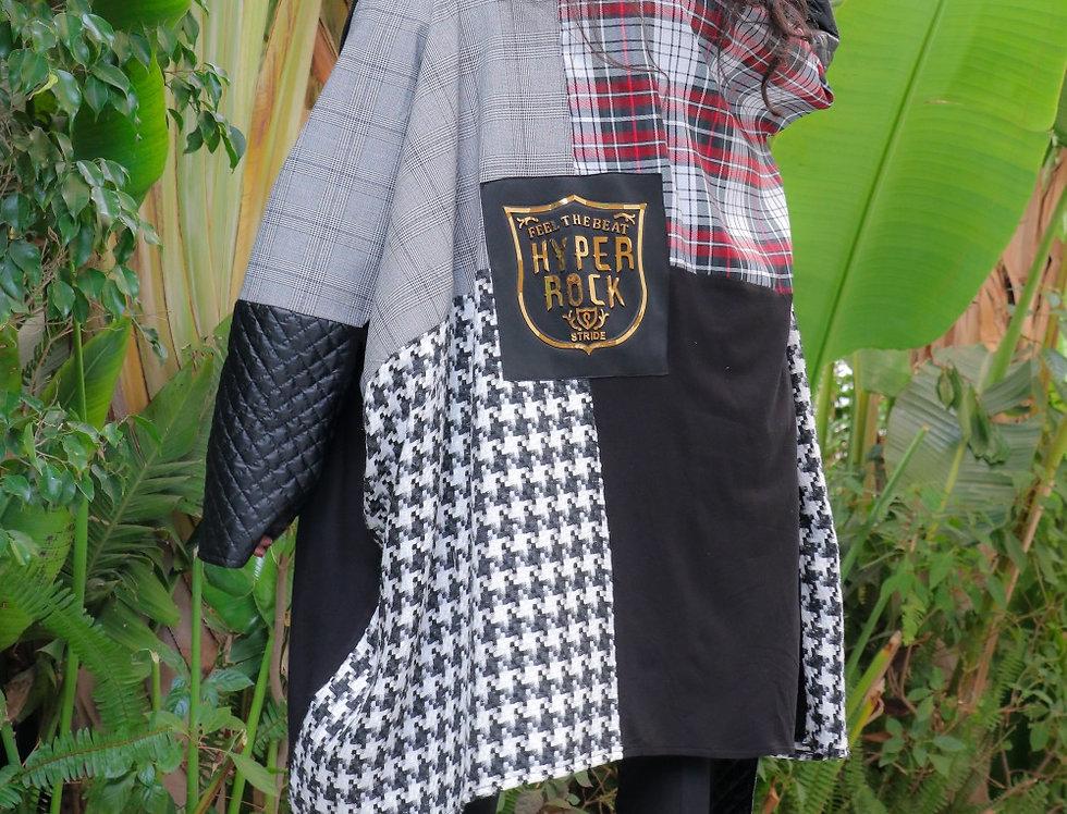 Patch work wool fabrics