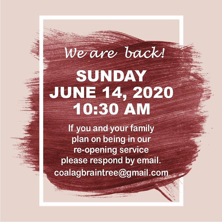 SUNDAY SERVICE, JUNE 14, 2020 AT 10:30 AM