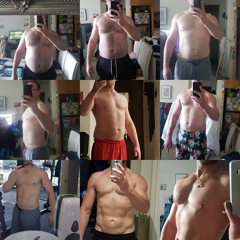 9 progress pics of drlifepro  Fat to Ripped 6 months