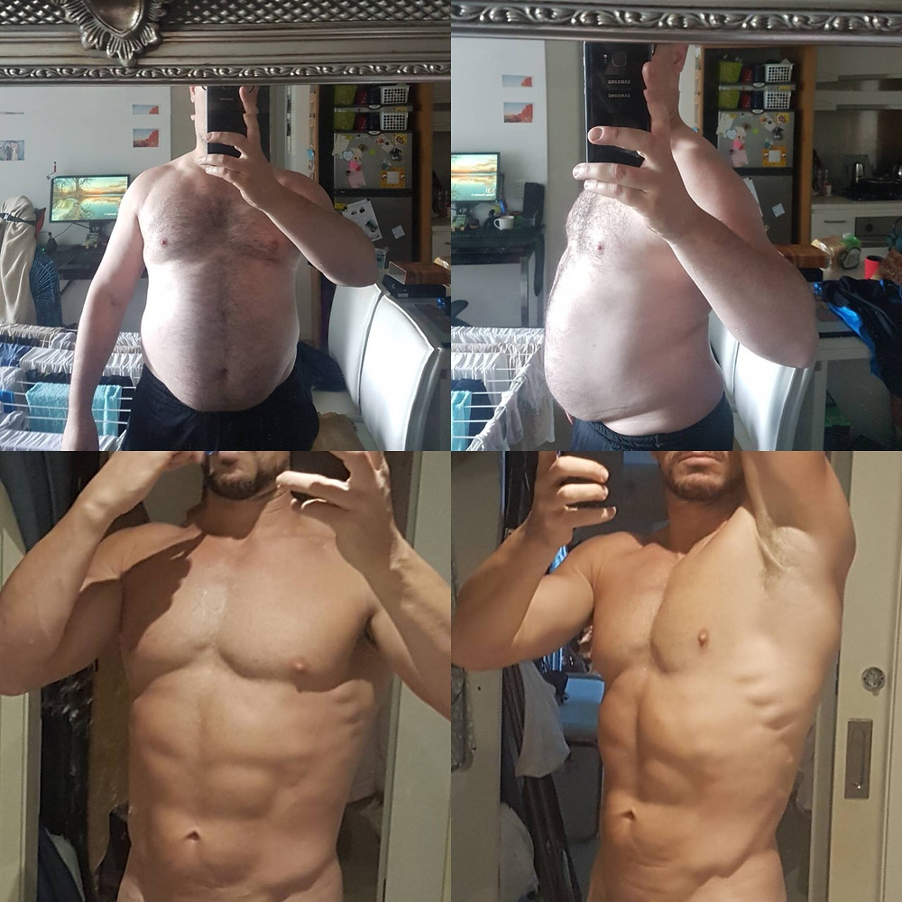 Fat to Ripped Progression  photos : abs, serratus anterior,  muscles