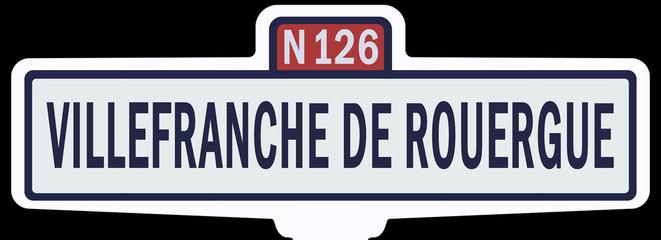 Panneau Villefranche de Rouergue