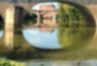 Le Moulin d'Albias vue du bord de l'Avey