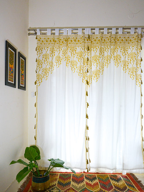 Seher Curtain - Yellow - Set of 2