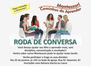 Roda de conversa Montessori