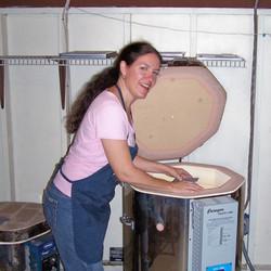 Julie at the Kiln