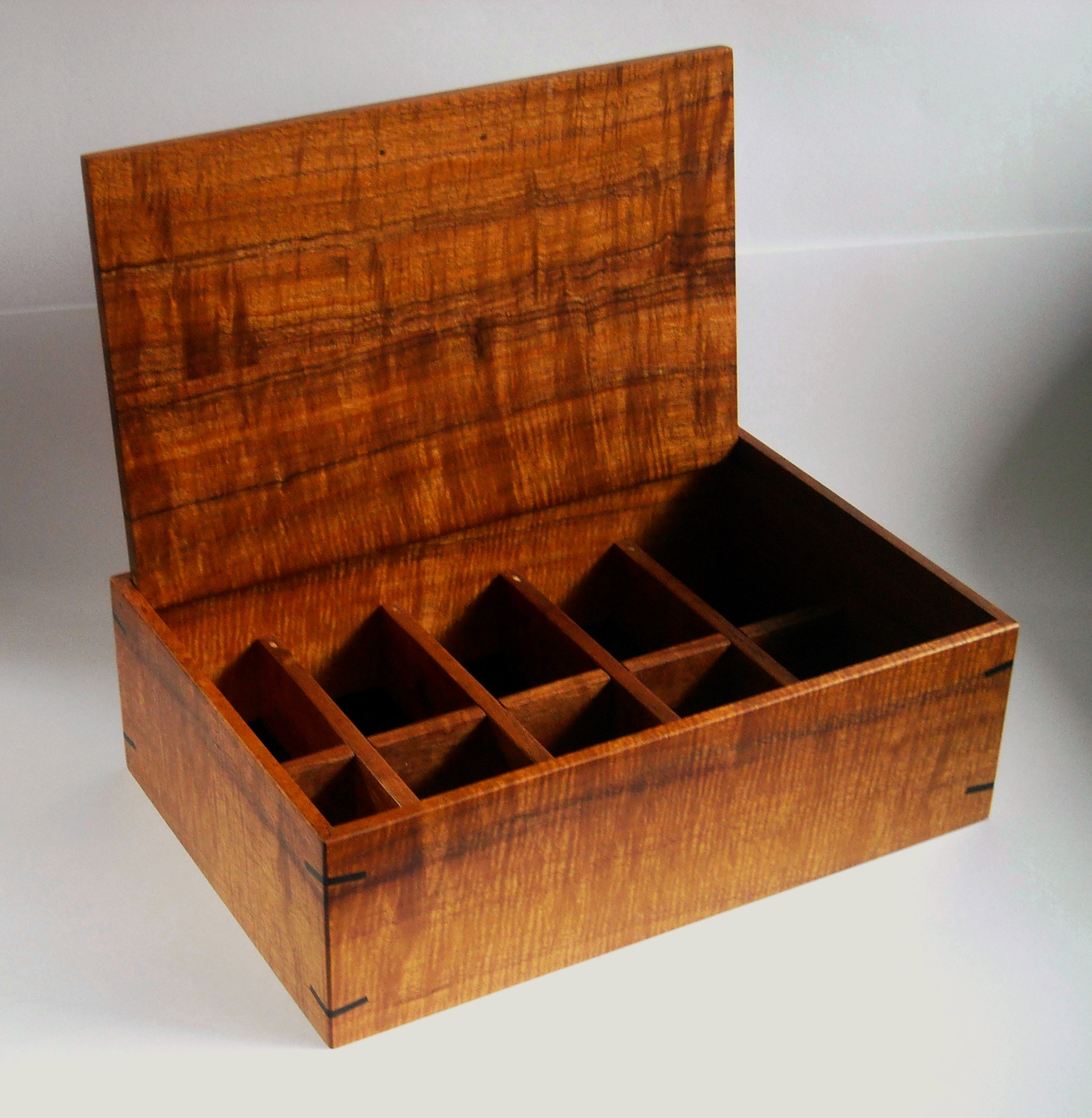 Koa Watch Case with Pin-hinged Lid