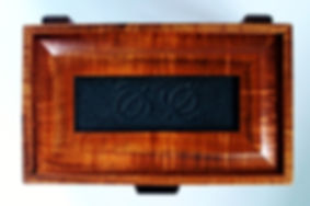 Double Honu Petroglyph Koa Box