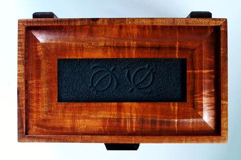 Double Honu Petroglyph Koa Box