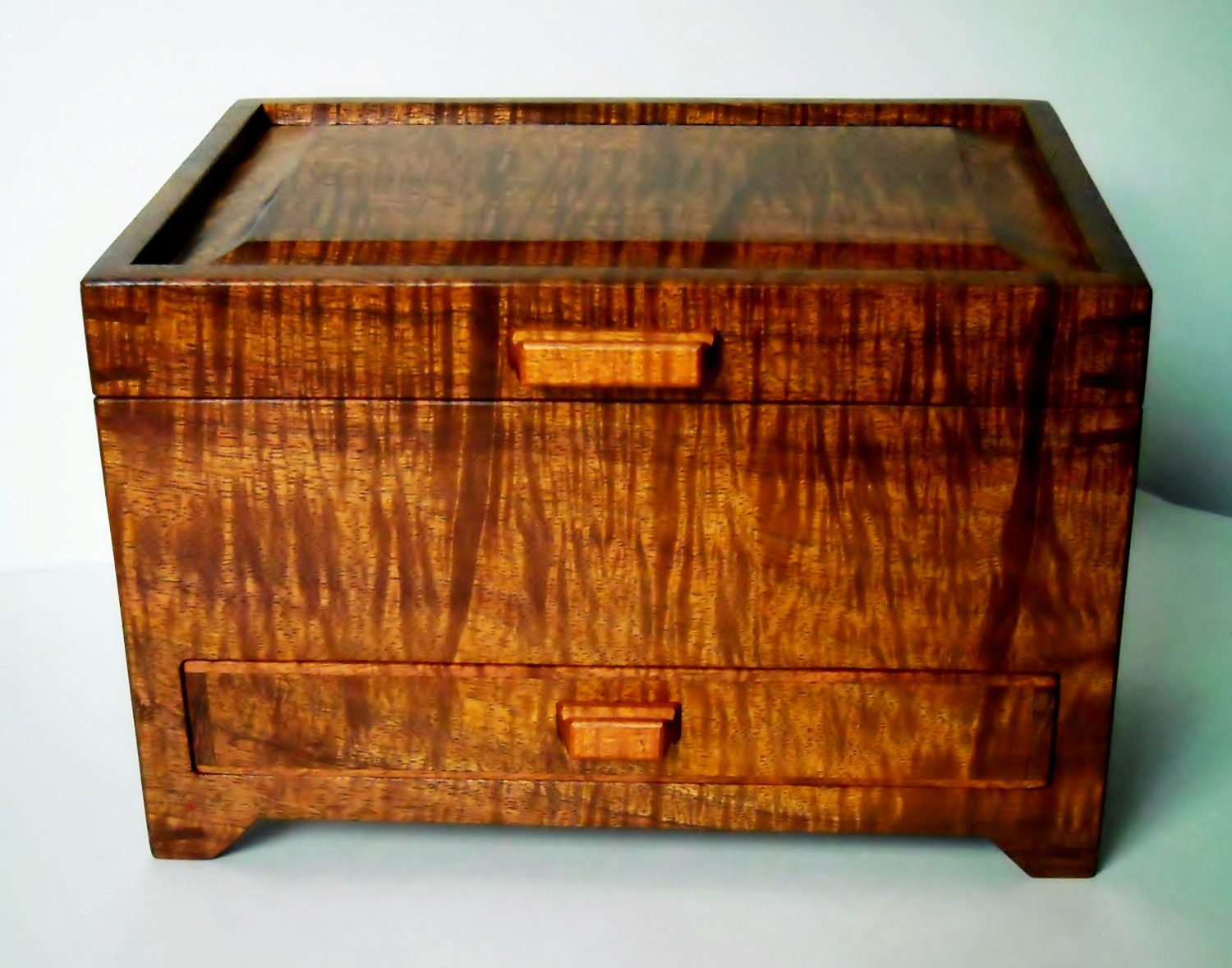 Footed Koa Drawer Box