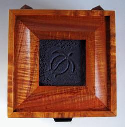 8 inch Square Petroglyph Koa Box