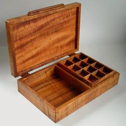 Koa Turtle Valet Box with inset tray