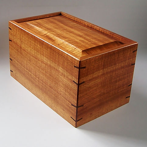 Curly Koa Box Urn Available Now