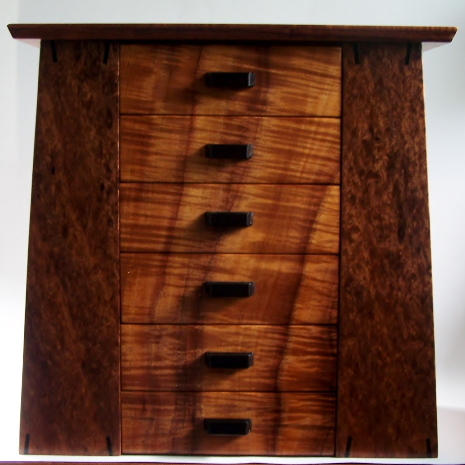 Curly Koa Jewelry Armoire