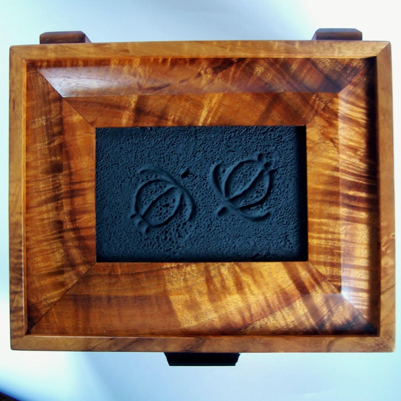 Petroglyph Tile Box