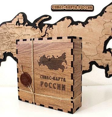 Спилс-карта РФ с магнитной подложкой