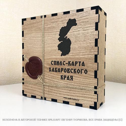 Спилс-карта Хабаровского края с магнитной подложкой