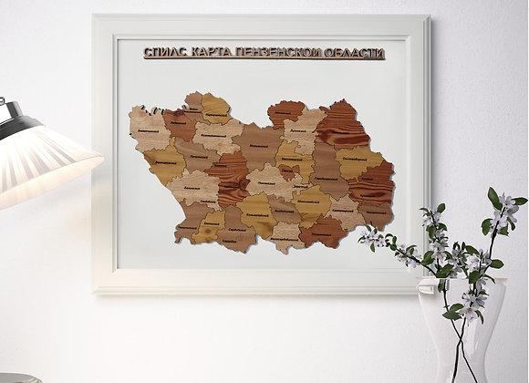 Спилс-карта Пензенской области