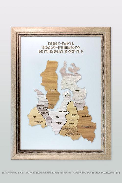 Спилс-карта Ямало-Ненецкого округа стандарт плюс