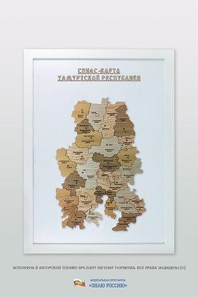Удмуртская Республика - спилс-карта стандартная