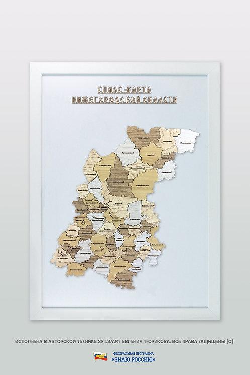 Нижегородская область - спилс-карта стандартная