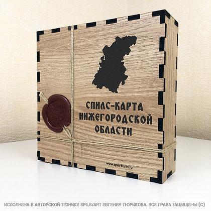 Спилс-карта Нижегородской области с магнитной подложкой