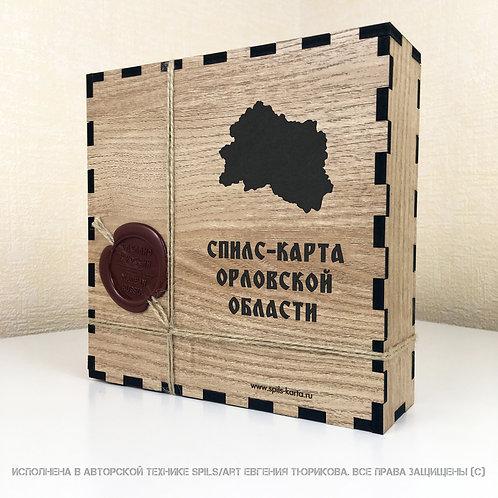 Спилс-карта Орловской области с магнитной подложкой