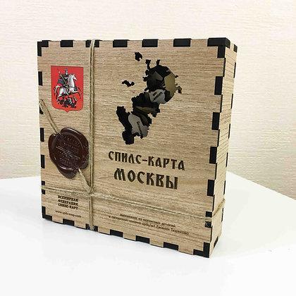 Спилс-карта Москвы с магнитной подложкой