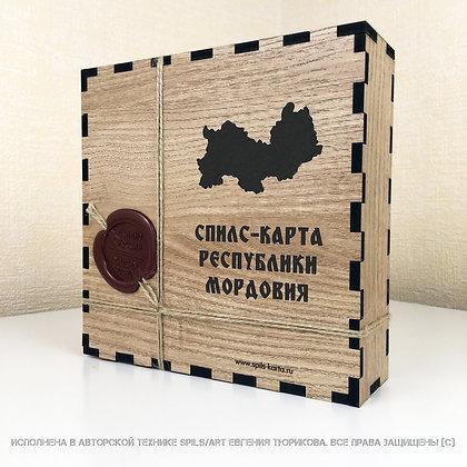 Спилс-карта Мордовии с магнитной подложкой