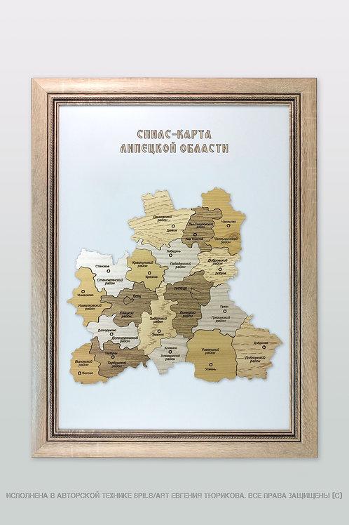Спилс-карта Липецкой области стандарт плюс