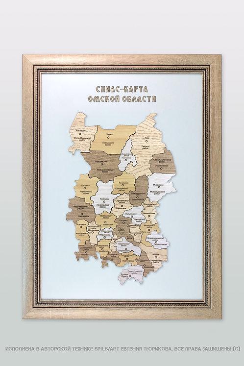Спилс-карта Омской области стандарт плюс