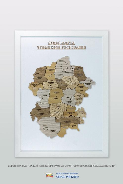 Чувашская Республика - спилс-карта стандартная