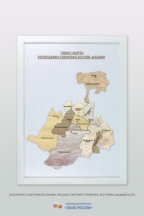 Северная Осетия - спилс-карта стандартная
