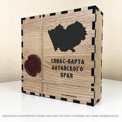 Спилс-карта Алтайского края  с магнитной подложкой