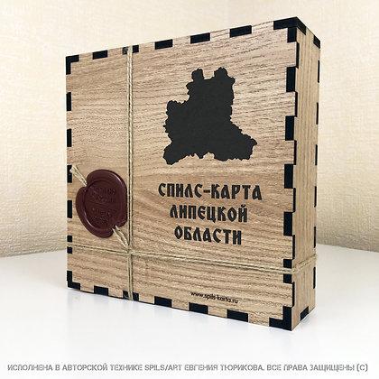 Спилс-карта Липецкой области с магнитной подложкой