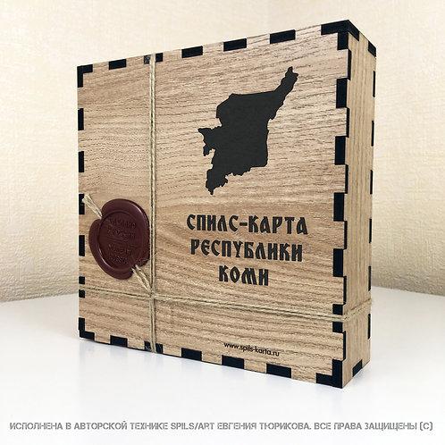 Спилс-карта Коми с магнитной подложкой