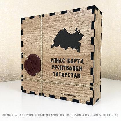 Спилс-карта Татарстана с магнитной подложкой
