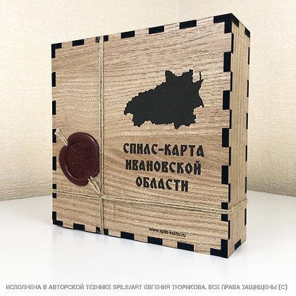 Спилс-карта Ивановской области с магнитной подложкой