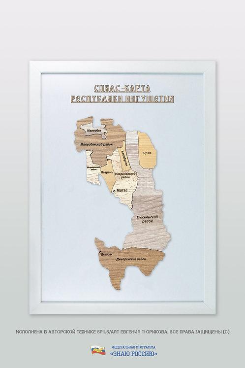 Ингушетия Республика - спилс-карта стандартная
