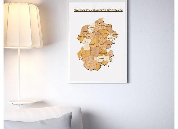 Спилс-карта Чувашской Республики