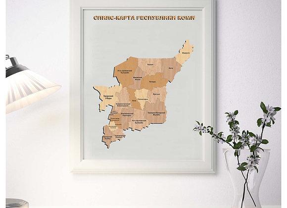 Спилс-карта Республики Коми