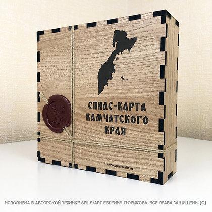 Спилс-карта Камчатского края  с магнитной подложкой