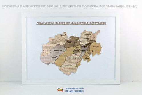 Кабардино-Балкария - спилс-карта стандарт