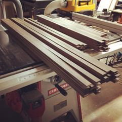 Walnut: ripped and planed