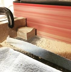 Sanding individual puzzle pieces