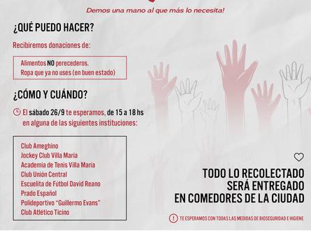 Colecta solidaria entre el León y otras instituciones