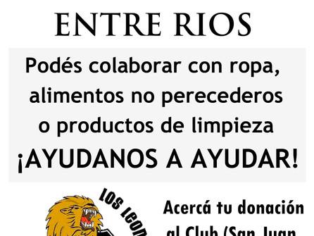 Campaña Solidaria por los inundados en Entre Ríos