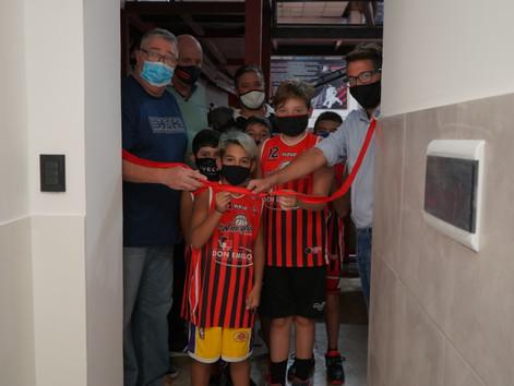 Ameghino inauguró nuevos y flamantes baños de la Leonera